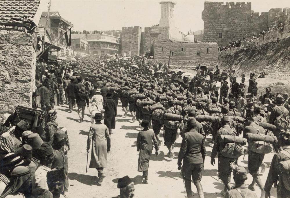 Austrian_troops_marching_up_Mt._Zion,_1916.JPG