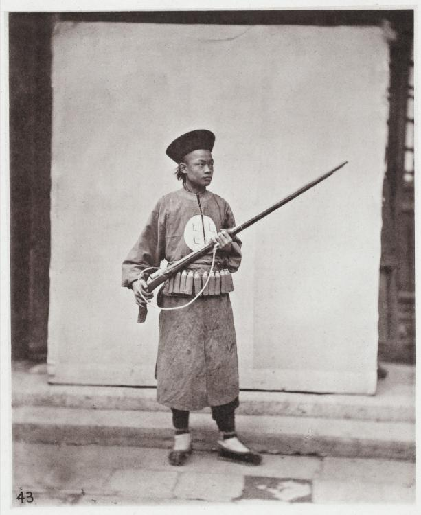 1871_A_Manchu_Soldier_from_the_North_of_