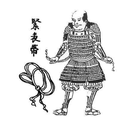 Samurai_putting_on_a_Uwa-obi_(himo).png.