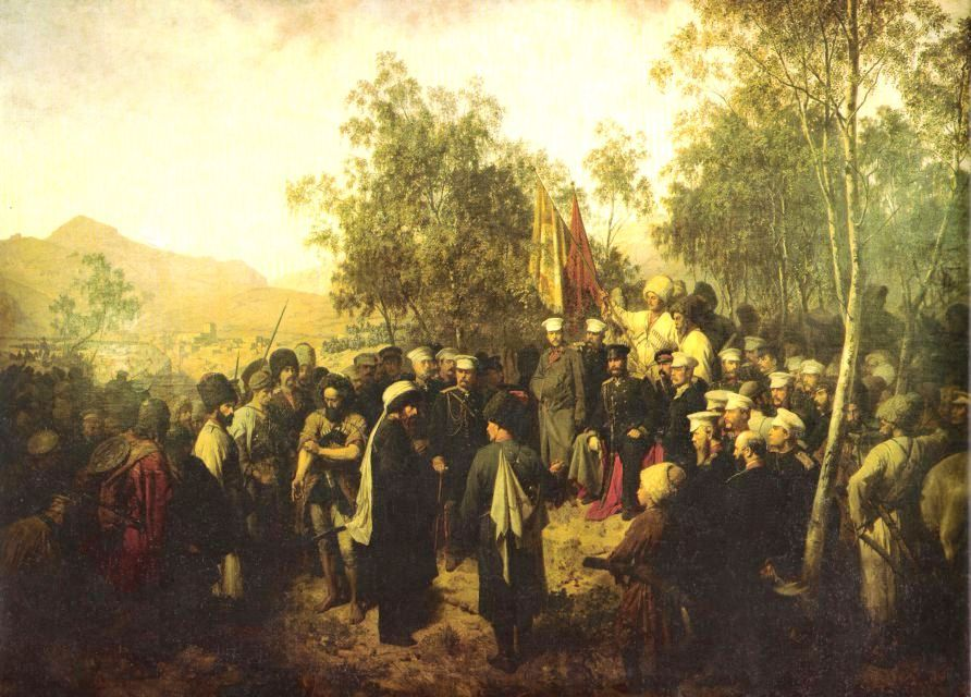 Horschelt._Surrender_of_Shamil._1863.jpg