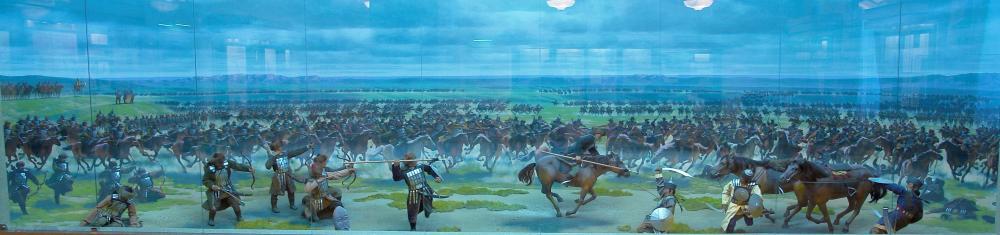 Битва казахов с китайцами (!) – недостоверная инсталяция из дома Абылай-хана.JPG
