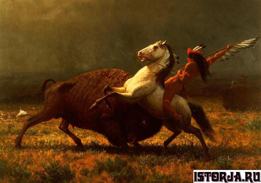 the-last-of-the-buffalo-albert-bierstadt
