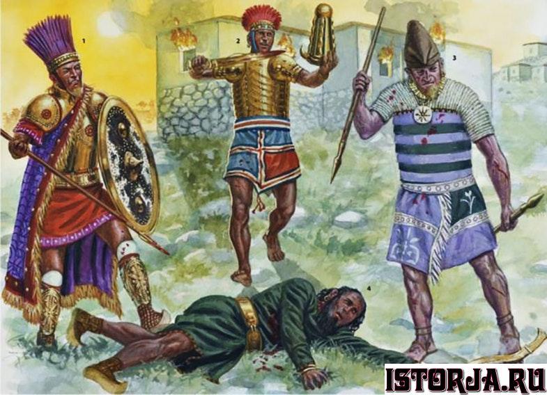 воины народов моря и раненный хетт.jpg